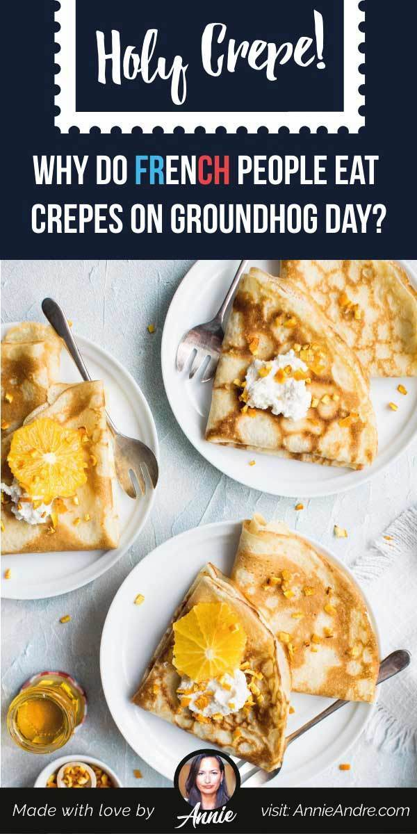 Pintrest image about Chandeleur crepe day