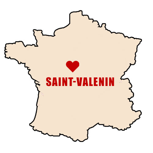 Village of Saint Valentin is located in the heart of France