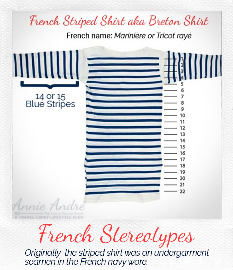 French stereotype and cliches: The French striped shirt: marinière-official-numbers