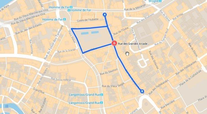 strasbourg-popular shopping-street is Rue des Grandes Arcades