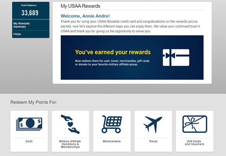 General rewards travel credit card perks USAA