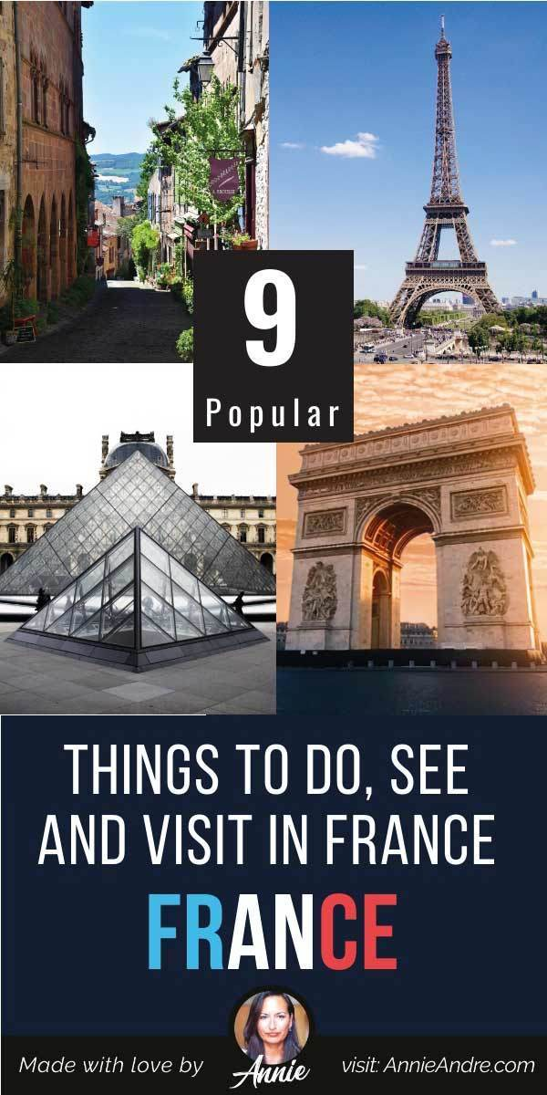 Pintrest pin about 9 extremely popular things to see in Paris