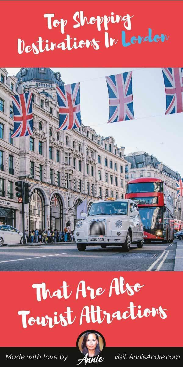 pintrest pin about Top London shopping destinations