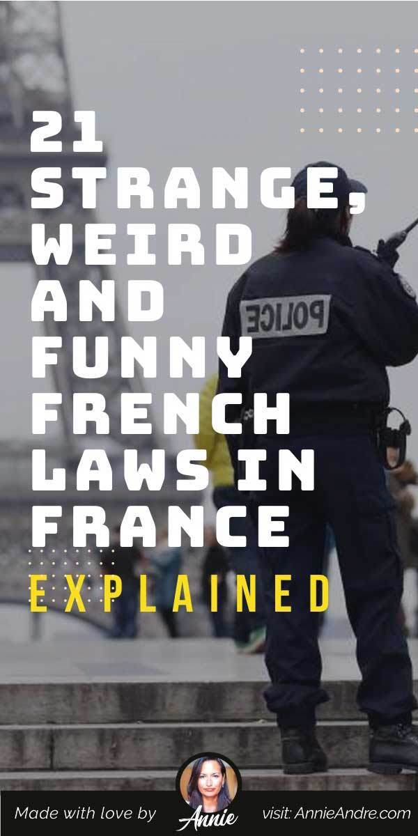 pintrest pin about Funny French laws