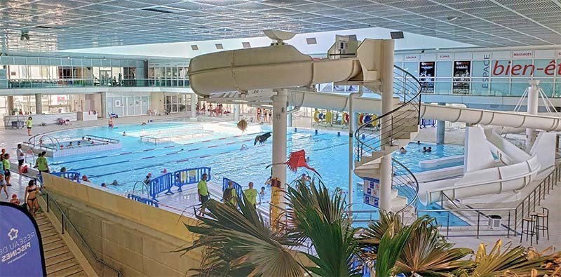Olympic public swimming pool at Antigone in Montpellier