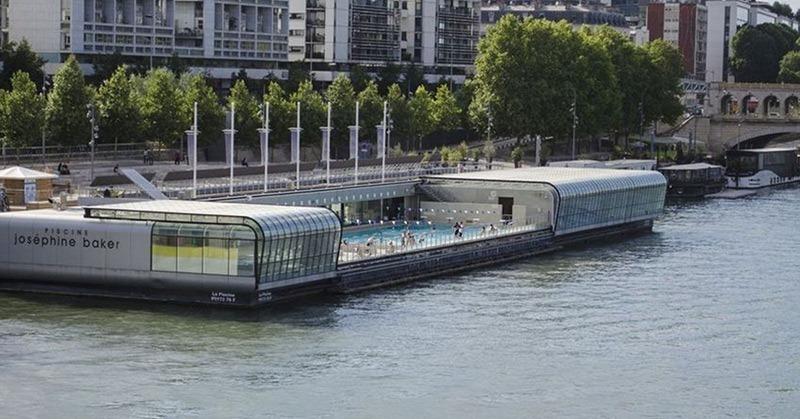 Paris public pool joséphine baker
