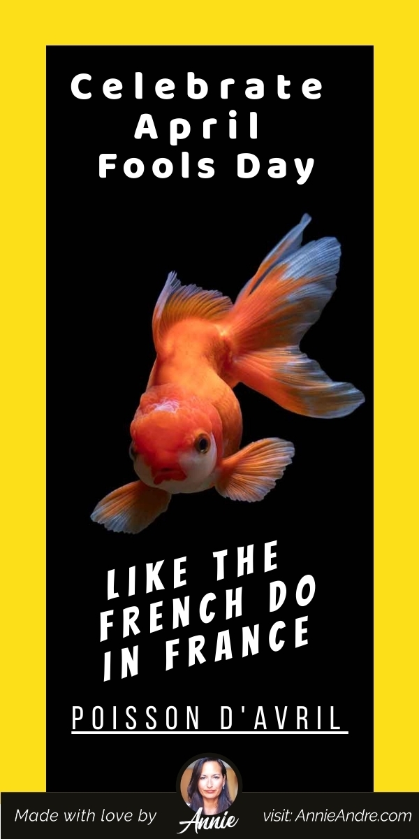 Pintrest pin about French April fools day