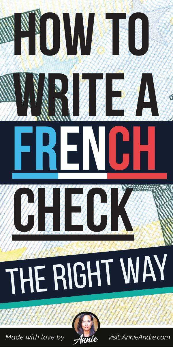 pintrest pin about How To Write A French Bank Cheque The Right Way