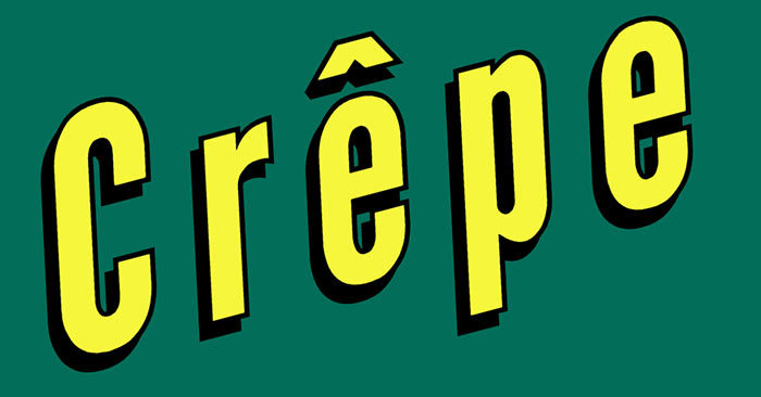 """French crepe facts: Why is there a little hat above the letter """"e"""" in the word Crêpe?"""