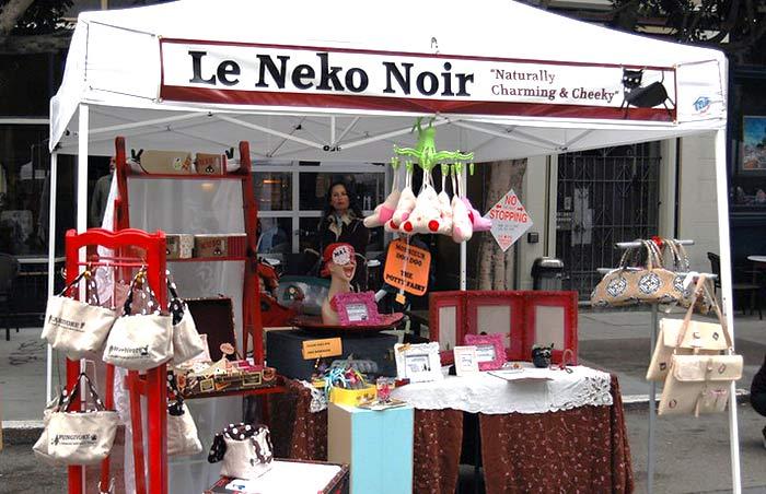 Le Neko Noir craft fair booth at the Union Street Design Festival