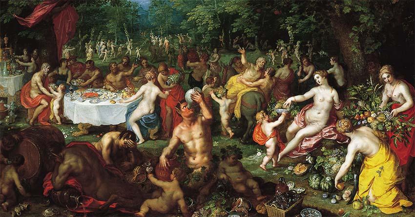 Bacchanal by Jan-Brueghel the Elder and Hendrik van Balen I