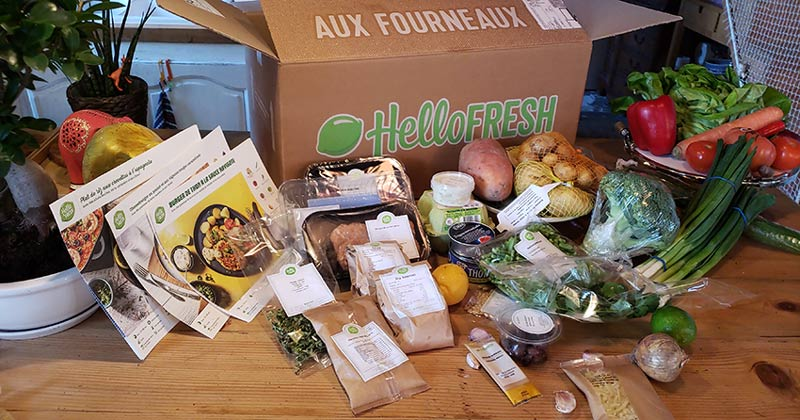 Hello Fresh France packaging