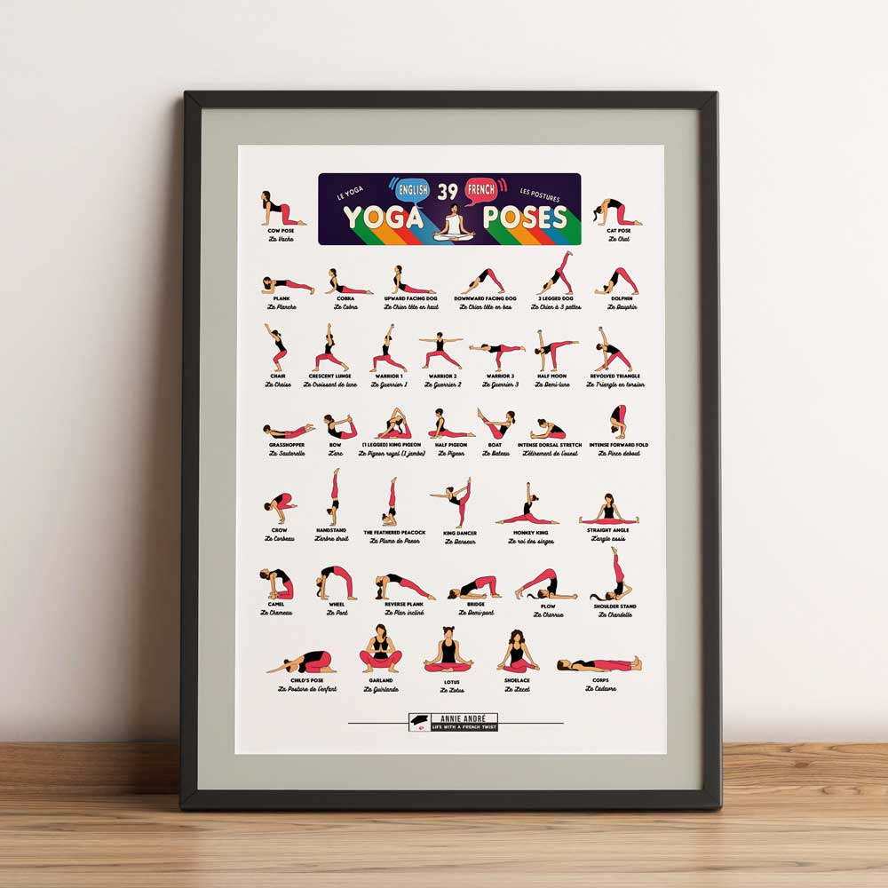 Printable Yoga Chart (Colour header)