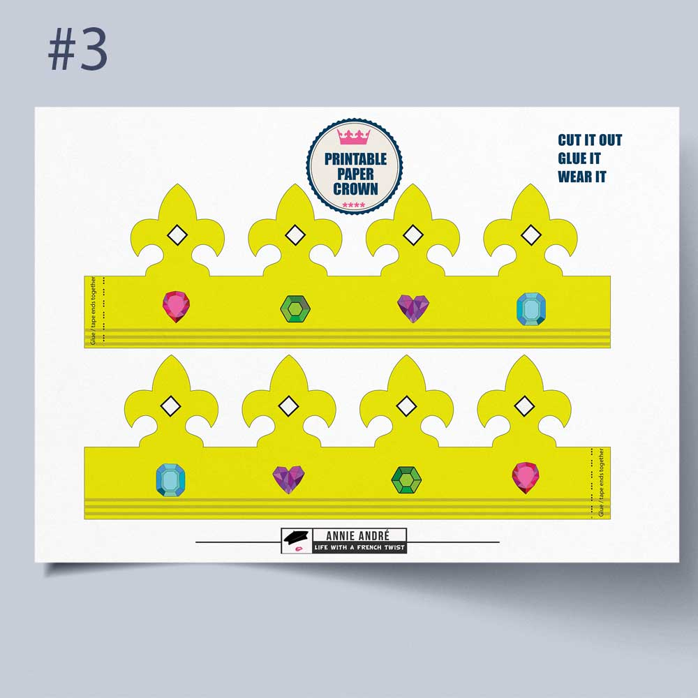 DIY Printable Paper Crown Template: