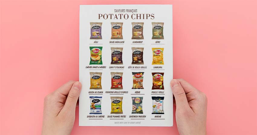 French potato chip flavours available in France: