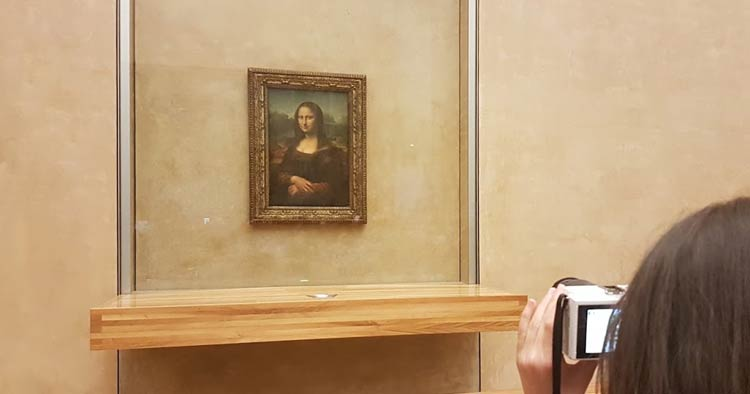 LA JOCONDE or the Mona Lisa in English is located at the Louvre in Paris France