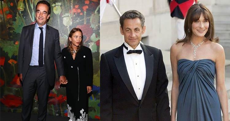 Ex president Sarkozy, half brother Oliver, Olson twin Carla Bruni