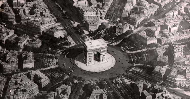 biggest round about is the one in Paris that encircles the arc de triomphe: invented by a Frenchman