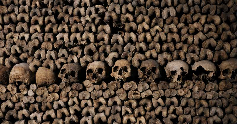 Catacombs paris is an unusual off the beaten place to visit if you like the macabre