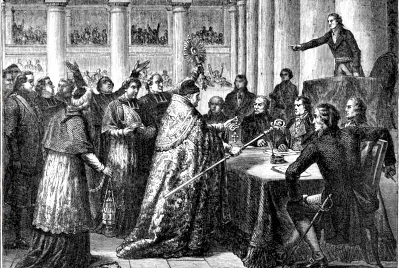 Leaders of the Catholic Church taking the civil oath required by the Concordat 1801