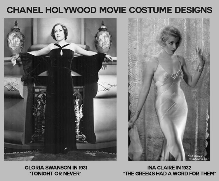Chanel Hollywood costume designs