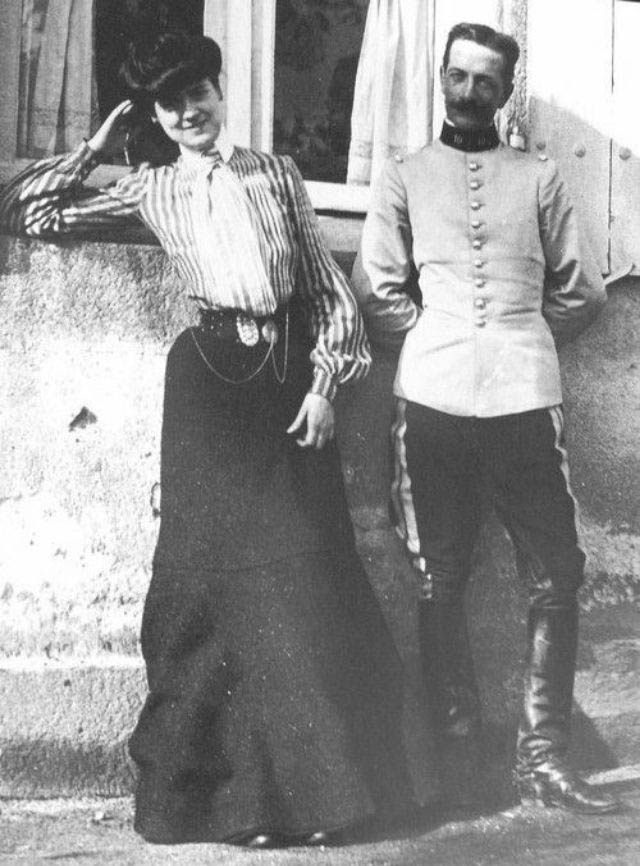 Chanel with Étienne Balsan possibly when she was a shop girl in Moulin France