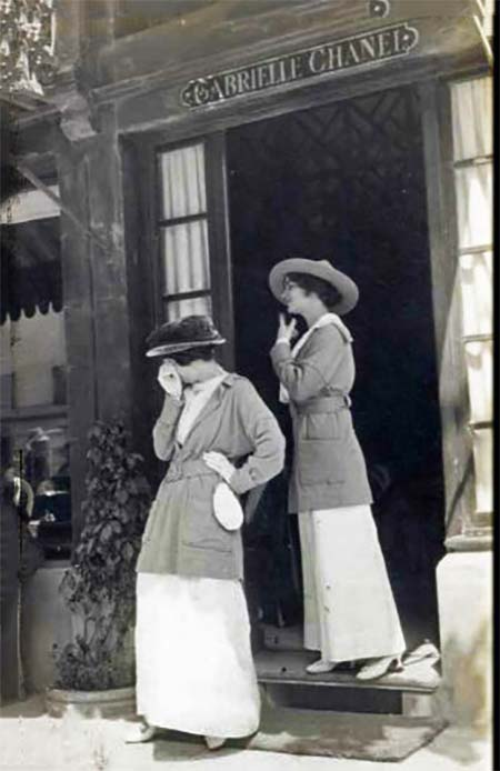 Gabrielle CHANEL boutique in Deauville France: with Adrienne Chanel possibly