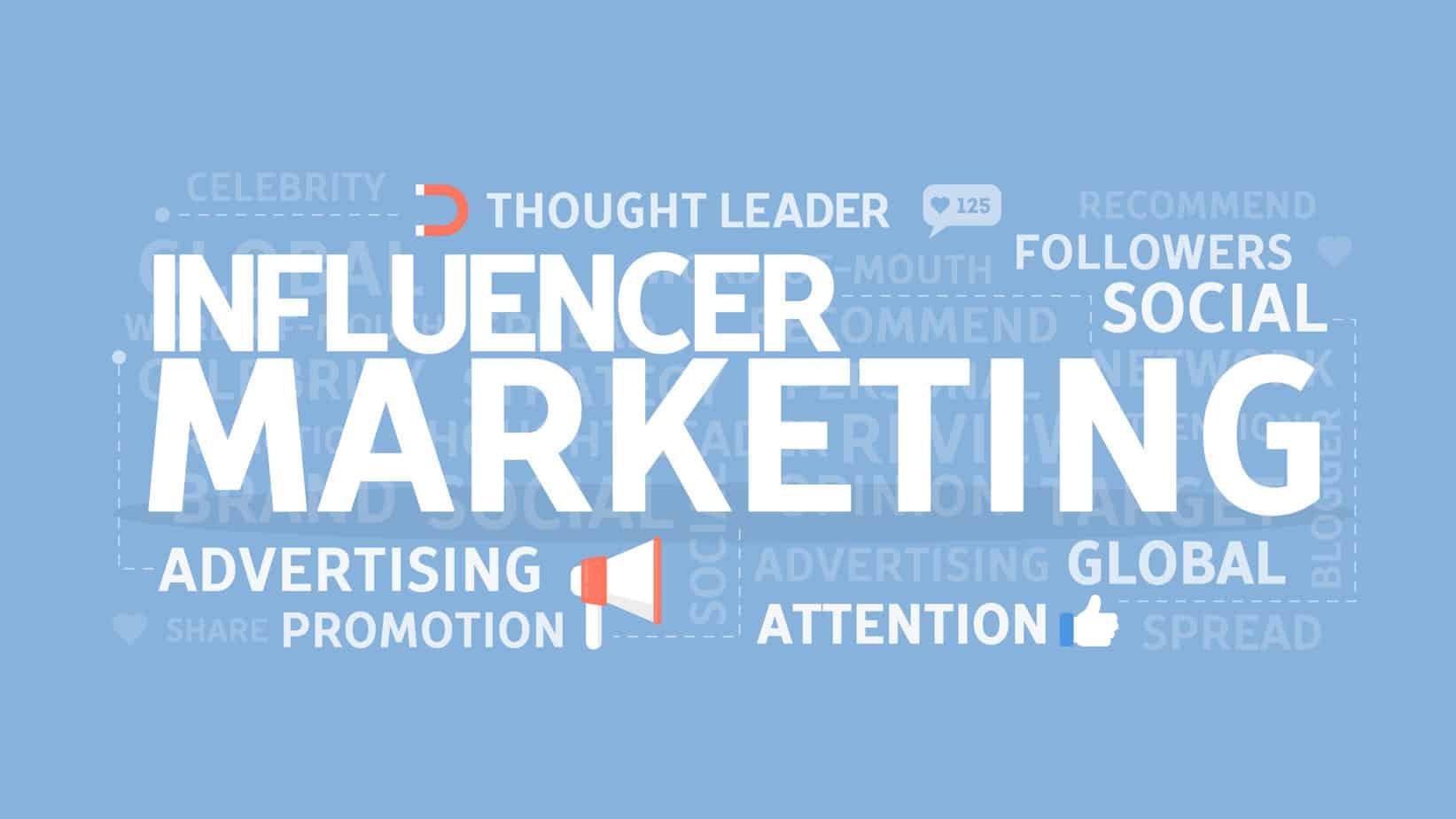 Influencer Marketing word collage