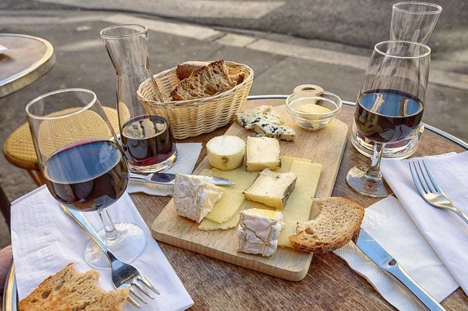 wine pairing with cheeses