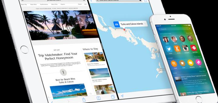 iOS 9 running on iPad, iPhone