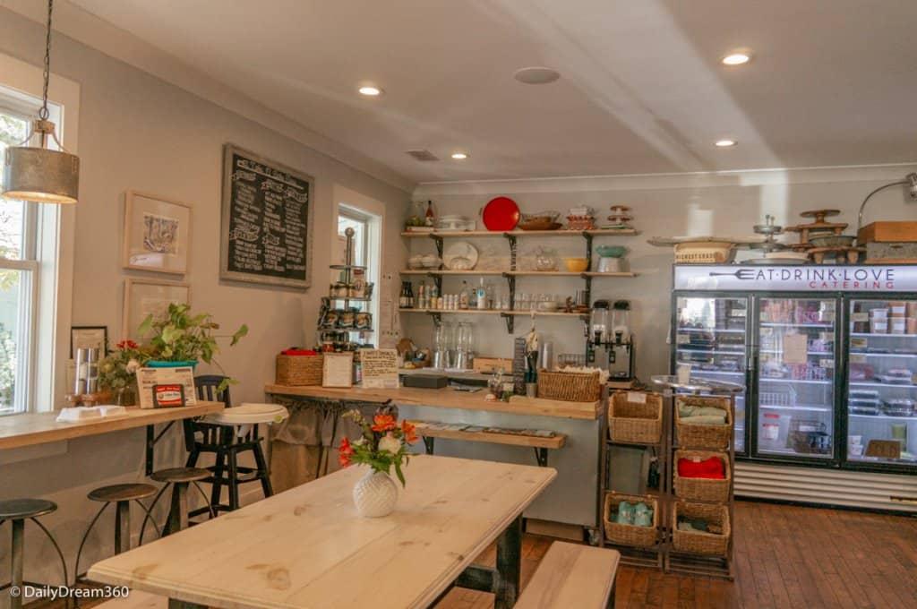 Eat Drink Love food counter in the Roost Ocean Springs Hotel
