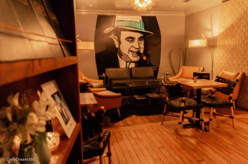 Secret room at Wilbur Bar in the Roost Ocean Springs Hotel