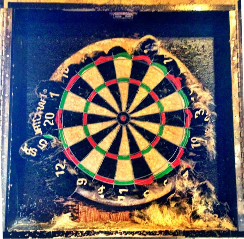 How not to care for a dartboard