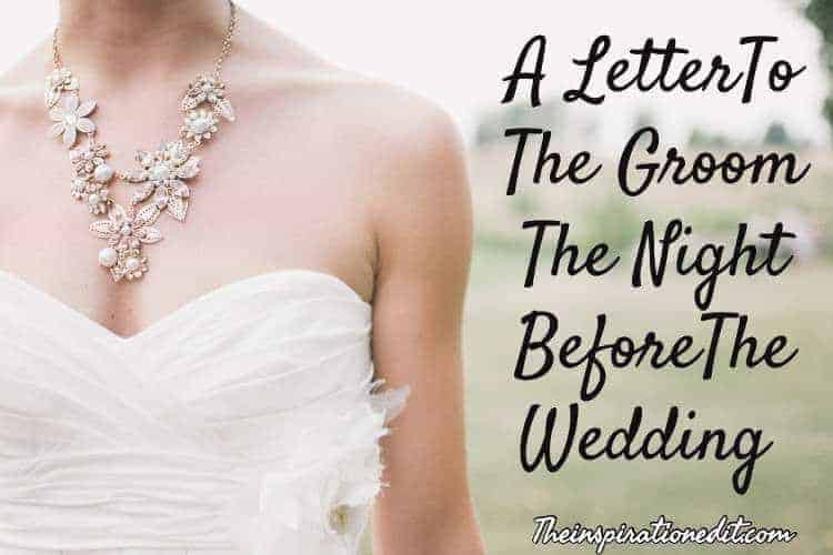 lETTER TO THE GROOM
