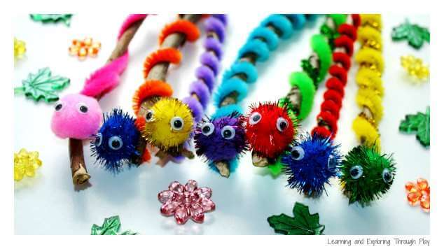 0 - Caterpillar Twig Crafts - Learning and Exploring Through Play