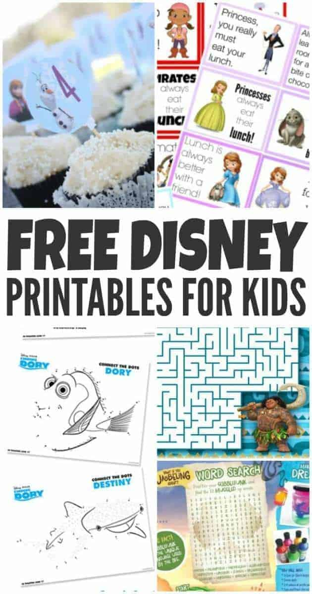 Free Disney Activity sheets. Get your free Disney printables today