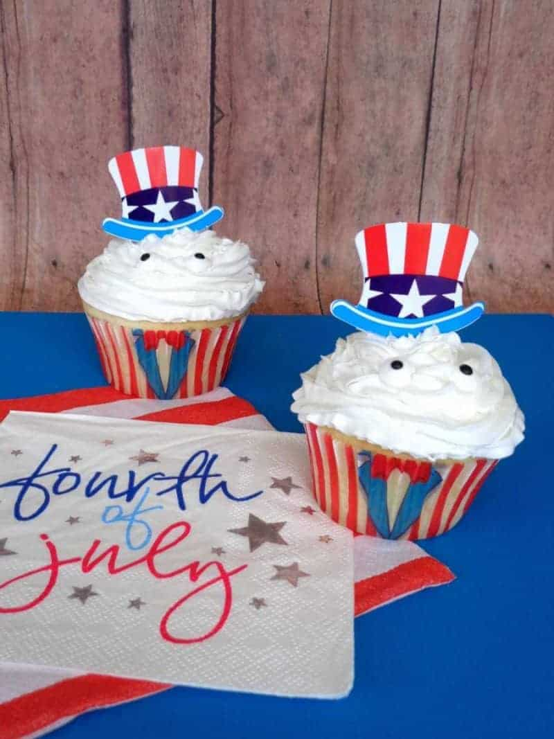 uncle sam cupcakes