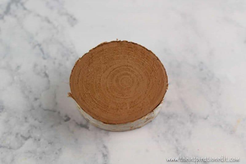 painting Wooden slice doe craft