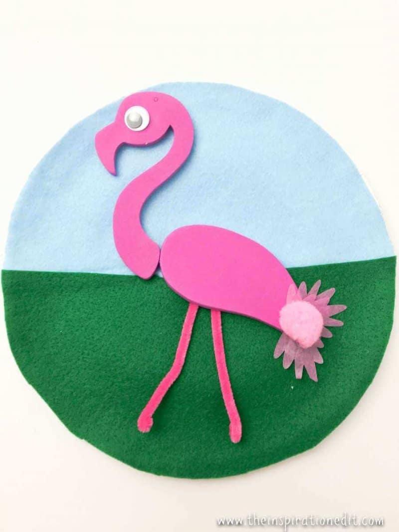 Paper Plate Flamingo Craft