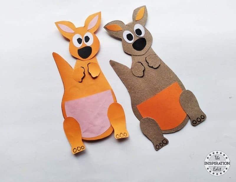 kangaroo paper craft