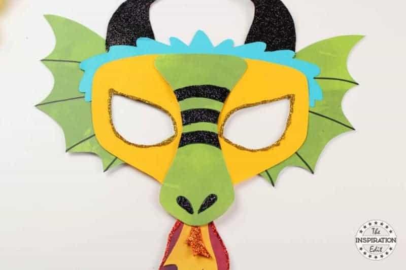 fun free template for dragon mask craft