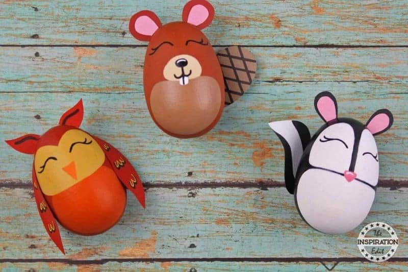 super cute owl, beaver and skunk preschool crafts for fall