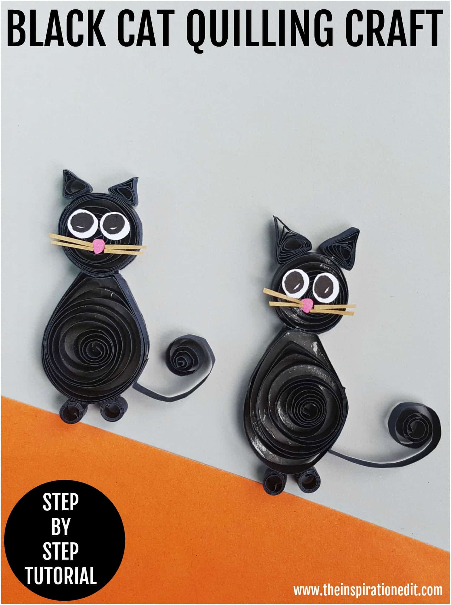 black cat quilling project for kids