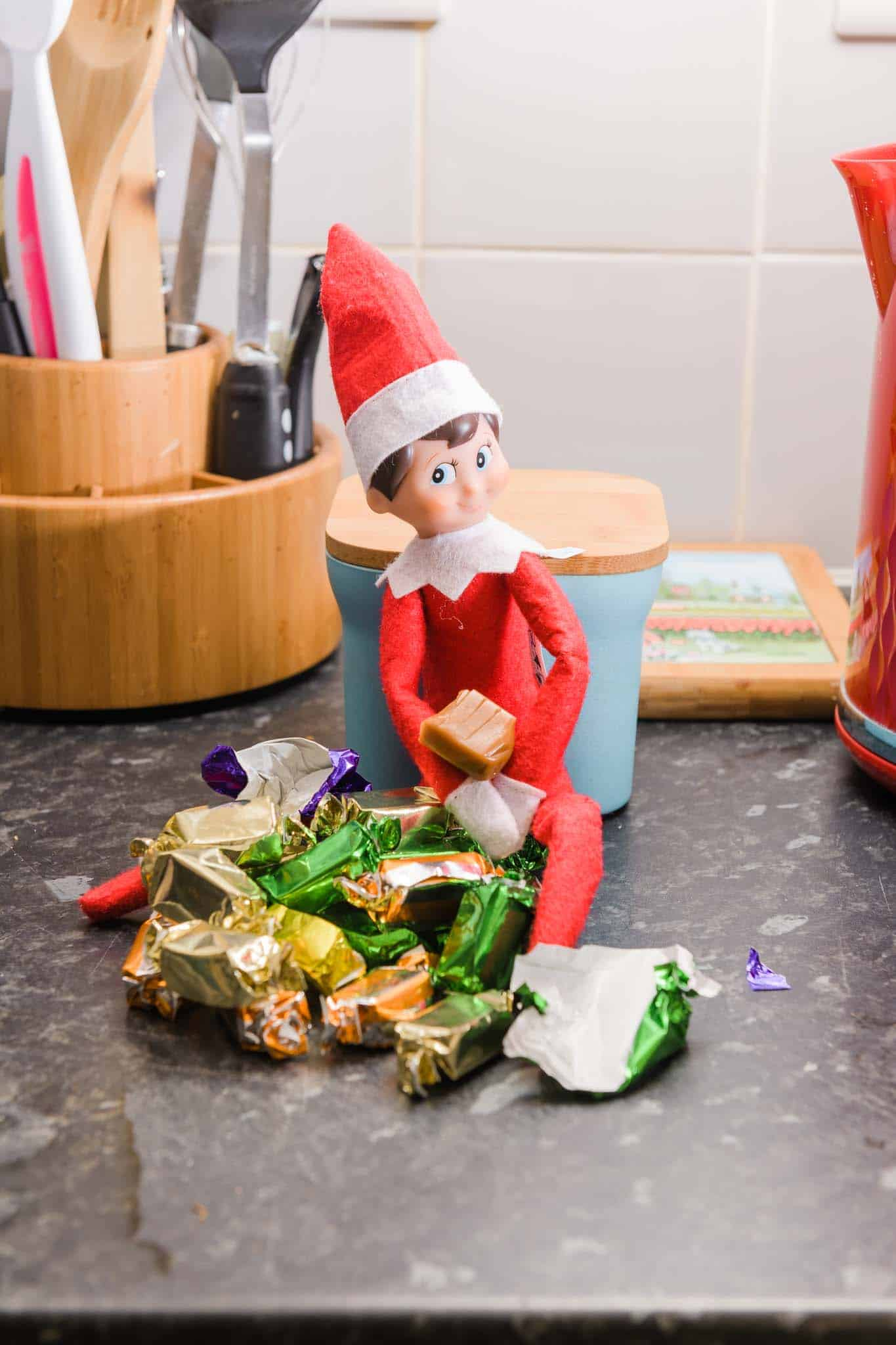 Elf On The Shelf Eating The Candy