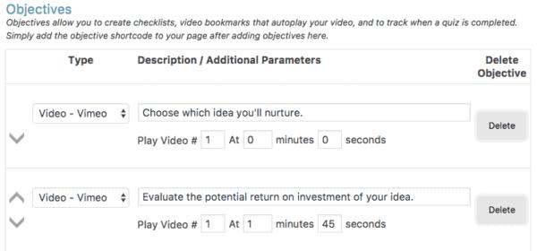 Video Bookmarks WordPress