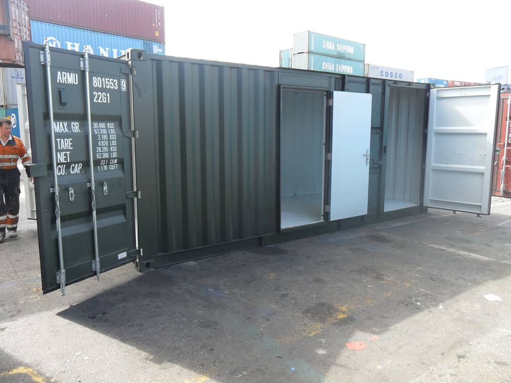 Boiler room shipping container conversion
