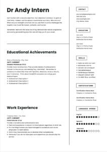 Medical Student Resume Template Page 1
