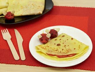 Crepes alle fragole del topolino Ricette per bambini 4-10 anni