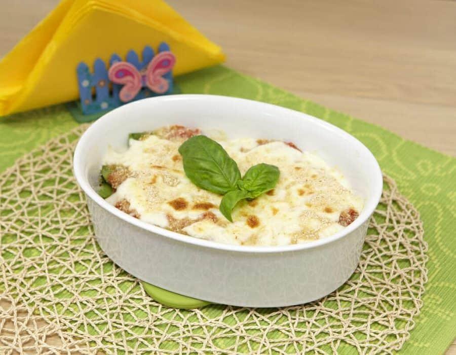 Pasticcio di taccole e pomodoro Ricette per bambini 4-10 anni