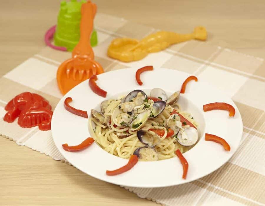 Spaghetti pesce e vongole Ricette per bambini 4-10 anni